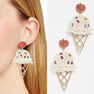 BAUBLEBAR NWOT Beaded Ice Cream Cone Earrings
